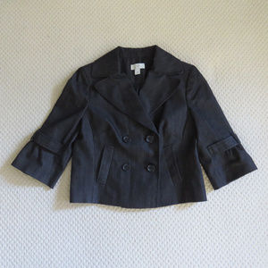 Ann Taylor LOFT Cropped Flared Jacket Charcoal 2
